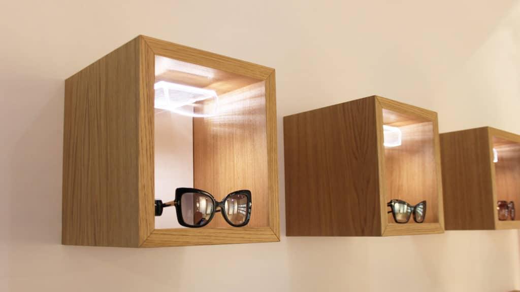 Shelves Glasses Sunglasses Spazio Ottica Eyecare Store Tiburtina